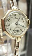 Antique Vintage And03939 Rolex Swiss Solid Gold Watch And Rolex Band Working 5x Signed