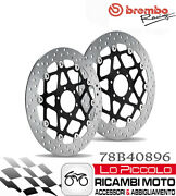 Bmw F 650 1997 1998 1999 Brembo Pair Brake Discs Floating Front