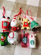 Starbucks Japan Coffee 2019 All 6 Types 2018 Ornament Set Holiday Limited New