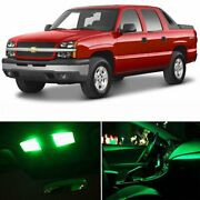Green Car Led Lights Interior Package Kit For Chevy Avalanche 2002-2006 Bulb