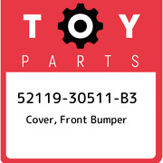 52119-30511-b3 Toyota Cover Front Bumper 5211930511b3 New Genuine Oem Part