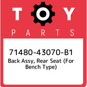 71480-43070-b1 Toyota Back Assy Rear Seat For Bench Type 7148043070b1 New Ge