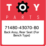 71480-43070-b0 Toyota Back Assy Rear Seat For Bench Type 7148043070b0 New Ge