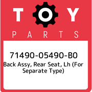 71490-05490-b0 Toyota Back Assy, Rear Seat, Lh For Separate Type 7149005490b0,