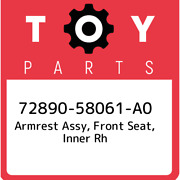 72890-58061-a0 Toyota Armrest Assy Front Seat Inner Rh 7289058061a0 New Genui