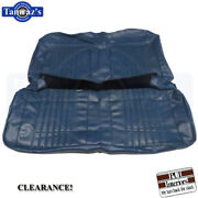 1971-1972 Chevelle Rear Seat Upholstery Covers Coupe Blue Pui Clearance