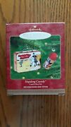 Hallmark Ornament Hopalong Cassidy Lunch Box Set Dated 2000 Handcrafted Pressed