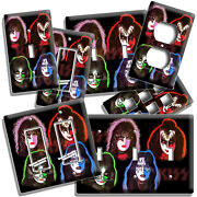 Kiss Hard Rock Band Solo Album Inspired Light Switch Outlet Plates Studio Decor