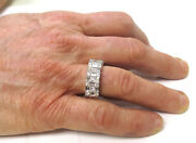 2.6 Ct Princess Round And Baguette Diamond Ring F-g Color 14k White Gold Band 322
