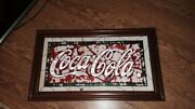 Coca Cola Collectibles Antique Stained Glass Picture Rare Antique