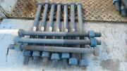 10x 14 Long Steel Bolts 7/8 Dia. With 6 Of Tread W/ Nuts