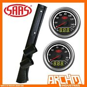 Saas Pillar Pod Boost Egt Water Oil Gauges For Toyota Lc78 Troop Carrier 1985-99