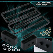 2 Rear Lift Leveling Kit Block Height Upgrade Black For 04-20 Ford F150 F-150