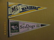Mlb Cisl Seattle Mariners And Seattle Sea Dogs Vintage Baseball And Soccer Pennants