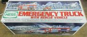 Vintage 2005 Hess Emergency Truck With Rescue Vehicle, With Box. Rare Classic