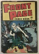 Front Page Comic Book 1 Pre-code Horror 1st Man In Black Scarce Gd+