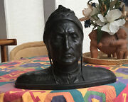 Bronze Sculpture 19th Century Rare Bust Of Dante Alighieri Now Reduced To Sell