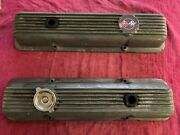 1969 Camaro Z/28 And Corvette Finned Aluminum Valve Covers 3932418 No Drippers