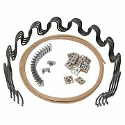 27 Upholstery Spring Replacement Kit- 4pk Springs, Clips, Wire W/ Instructions