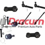 8pc Inner Outer Tie Rods Sway Bar Links Kit For Subaru Legacy Outback