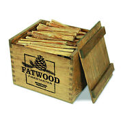 Betterwood Products Fatwood Firestarter Natural Waterproof Wood Crate 12 Pounds