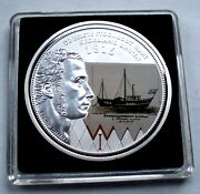 1816 The First Steamboat In The Netherlands Bu Proof Colored Medal 40mm 29g B11