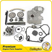 Timing Chain Oil Water Pump Kit Cover Gasket Fit 00-08 Chevy Pontiac Ls Lt 2.2l
