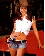 Brooke Burke Signed Autographed Sexy Cowgirl 8x10 Photo