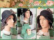Antique Art Deco French Perfume Counter Mannequin Display W/flapper Hat Estate