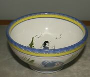 Rustical Bowl 13 Cm Tradition With Man Henriot Quimper From France