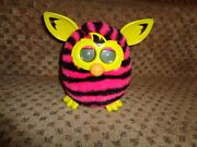 2012 Furby Boom Hot Pink And Black Zebra Stripes Electronic Interactive Chatty Toy