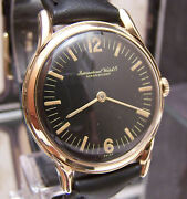 1950 Antique Vintage Shaffhausen Swiss Solid Gold Cal 422 Rare Dial Watch