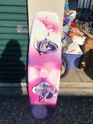 Purple And Pink Hyperlite Wakeboard With Boots. Great Condition.
