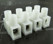 100 Pcs Wire 4 Position Barrier Terminal Strip Block 450v 30a 22-10 Awg
