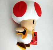 """Super Mario Red Toad 7"""" Tall Plush Toy Nintendo Collection 2009 New With Tags"""