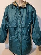 Dunbrooke Distinctive Images Womanand039s Green Jacket Size M Hooded