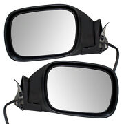 Pair Set Power Side View Mirrors Glass Housing Textured For 97-01 Jeep Cherokee