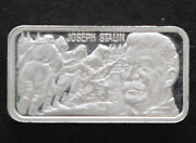 1978 Lincoln Mint General Joseph Stalin Silver Art Bar History Of Wwii P1664