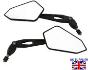 Motorbike Wing Mirrors Side Expanded Rear Wide View Street Bike Quad Atv Utv