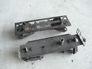 Lot Of 2 Vintage O Scale Marx Metal Train Car Frame Trucks And Couplers