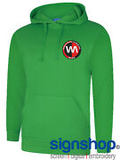 Personalised Hoodie Football Embroidered Logo Badge Any Team