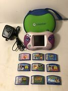 Nice Pink Leap Frog Lot Leapster2 System Case 9 Games Disney Scholastic Abc
