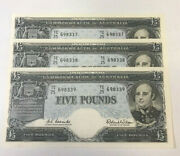 Australia 1960 5 Pounds Rare As A Consec. Trio Extremely Hard To Find In Unc