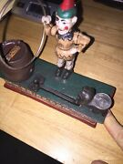 Circus Trick Dog Mechanical Piggy Bank Solid Cast Iron Metal 7+ Inches 3 1/2 Lb