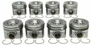 Mahle 2008-2010 Ford 6.4 Powerstroke Piston And Ring Standard Set Of 8 6.4l Diesel