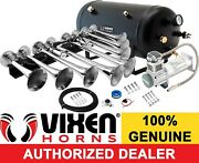 Train Horn Kit For Truck/car/pickup Loud System /5g Air Tank /200psi /8 Trumpets
