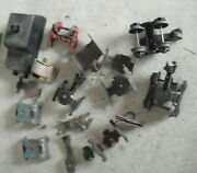 Lot Of Vintage O Scale Lionel Marx Car Parts With Trucks Couplers More