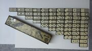 Empire British Dominoes Empire Bakelite And Celluloid Double Nine 55 Complete