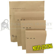 Natural Brown Kraft Paper Mailing Bags Durable Parcel Eco Mailers All Sizes