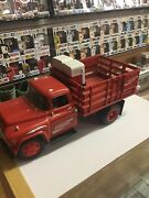 Erlt Coca-cola Diecast Coke Brand Stake Truck With Vending Machine And Dolly Cart